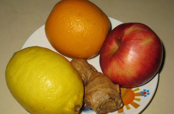Продукты яблоки, цитрусовые и имбирь укрепят иммунную систему