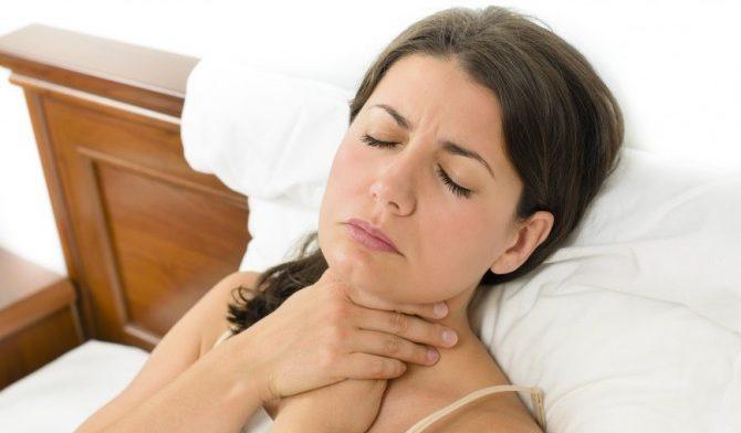 Боль и слизь в горле